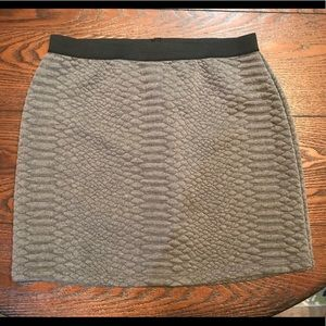 Grey Turo by Vince Camuto Quilted Skirt - Sz. XS